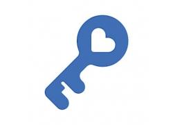 钥匙主题矢量UI图标LOGO设计
