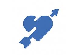 爱心与箭主题矢量UI图标LOGO设计