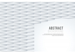 灰白3D立體圖形裝飾背景