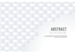 灰白3D立體圖形排列裝飾背景