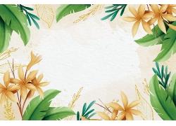 植物花朵边框背景