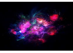梦幻渐变星空宇宙光影光晕星系星团装饰背景