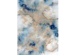 鎏金水彩晕染渐变艺术抽象装饰背景